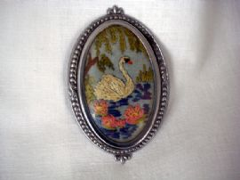 Majestic Swan Brooch Circa 1940's - 1950's (SOLD)